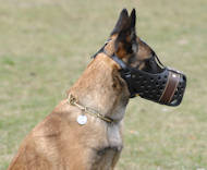 Agitation Muzzle,Police Leather Dog Muzzle