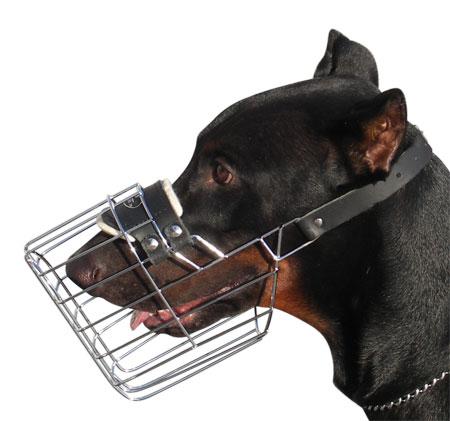 Doberman Wre Cage Dog Muzzle - Basket Dog Muzzle M9