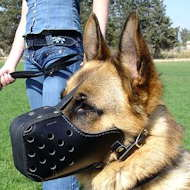 German Shepherd training Leather Dog Muzzles