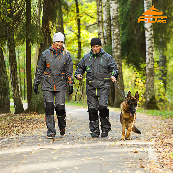 Unisex Durable Dog Tracking Suit for Men and Women with Reflective Strap