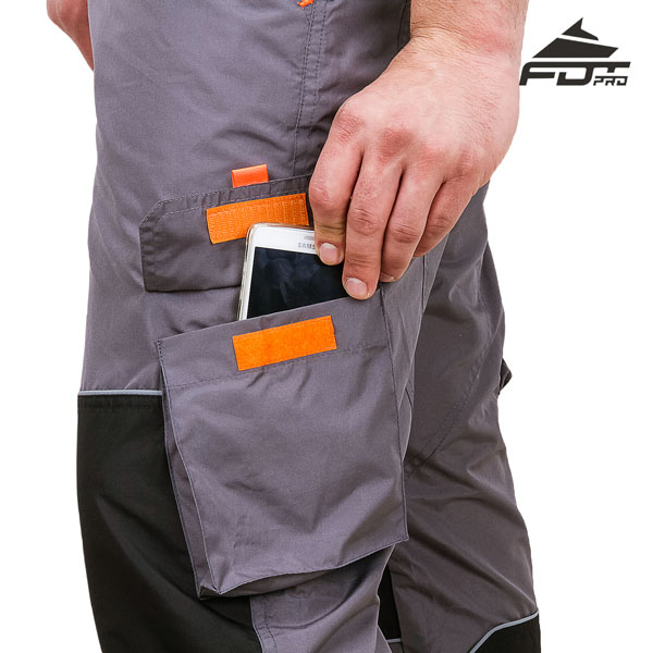Pro Design Dog Tracking Pants with Reliable Velcro Side Pocket